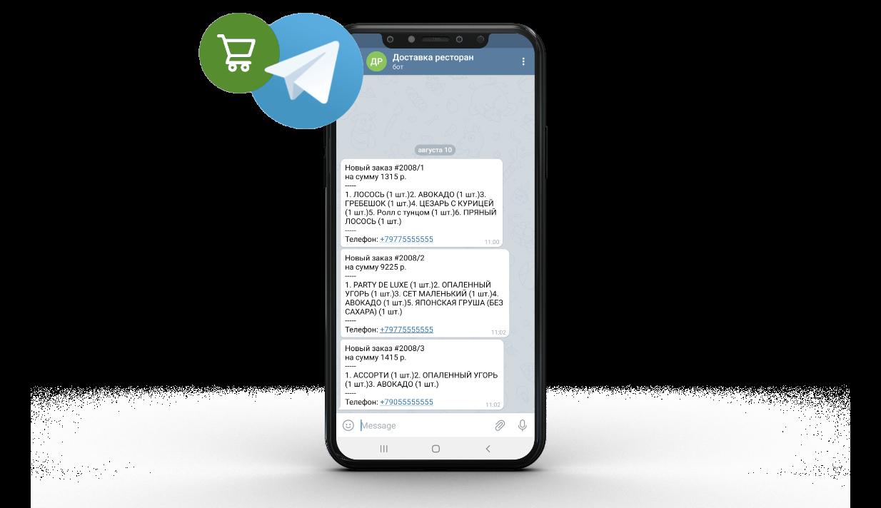 Получение заказов в Telegram
